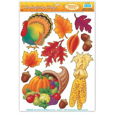 Thanksgiving Window Clings Thanksgiving Party Decorations](Thanksgiving Party Supplies)