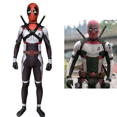US! Superhero Deadpool Adults/Kids Tight Quantum Armor Halloween Cosplay Costume