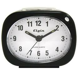 Geneva 3647E Quartz Alarm Clock - Black