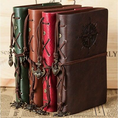 """Traveler's Handbook"" 1pc Vintage Diary Faux Leather Notebook Journal Kraft Memo"