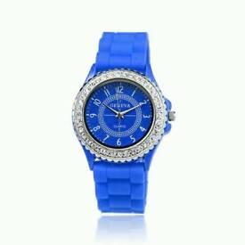 New Ladies Geneva Quartz Watch .