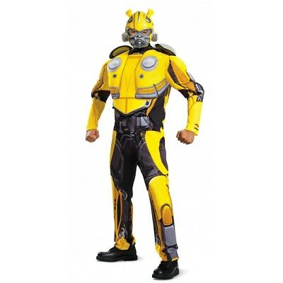 Disguise Transformers Bumblebee Movie Classic Muscle Men Halloween Costume 12546](Classic Movie Costumes Halloween)