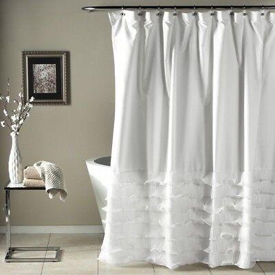 Shabby Chic Shower Curtain Clawfoot Tub Bathroom Decor Fairy-tale Bath Curtains