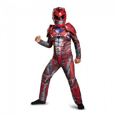 Disguise Power Ranger Red Ranger Movie Classic Muscle Halloween Costume 19073](Classic Movie Costumes Halloween)