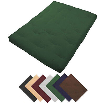 "Deluxe 8"" Thick Futon Mattress Many Sizes & Colors"