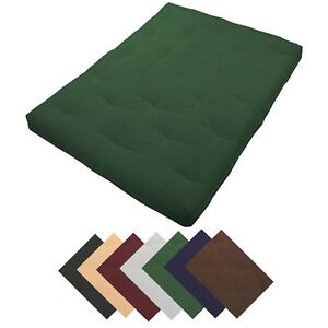 deluxe 8 thick futon mattress many sizes colors