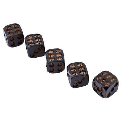 Cube Skull Face Gaming Dice Set of 5Pcs in Matte Black Finish Halloween D