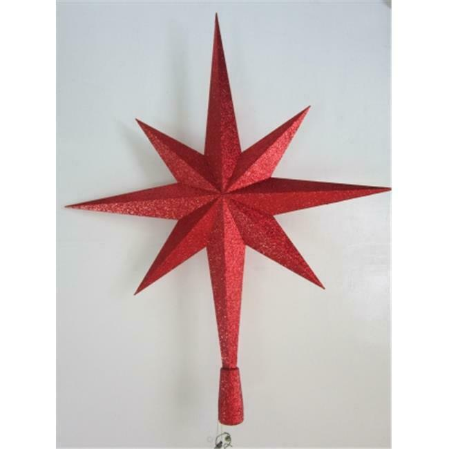 Winterland WL-TOPPER-32-RE 32 in. Red Star Tree Topper