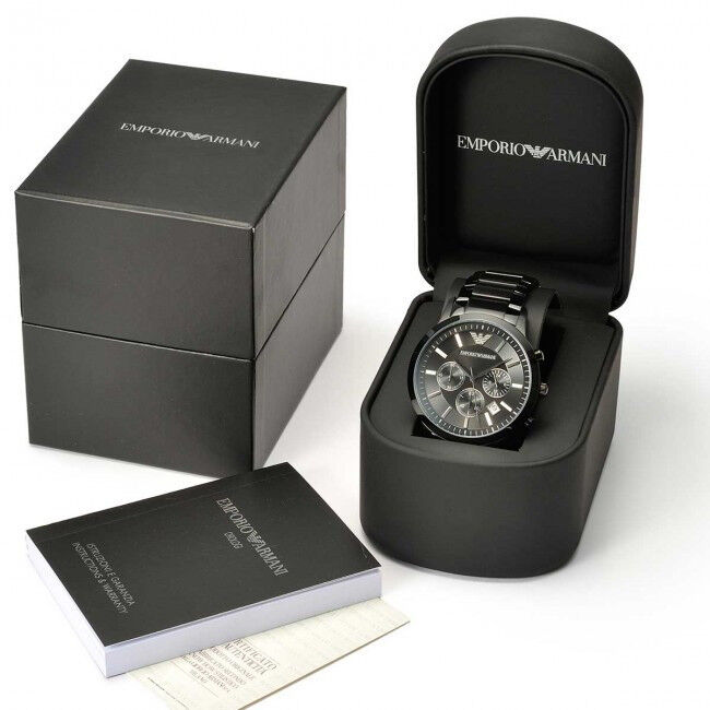 Brand New - Armani watch - Black Ceramic - Original Box, Book, Certificate, Tag