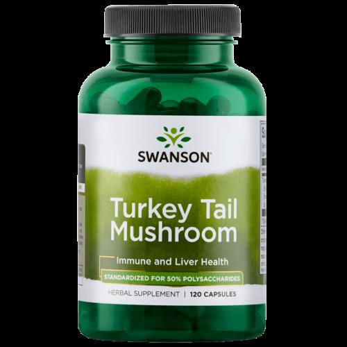 Swanson Standardized Turkey Tail Mushroom Extract Capsules, 1 g, 60 Ct