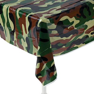 Camouflage Table Cover Plastic (Camouflage Tablecloth Table cover Birthday party Military Hunting)