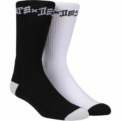 Echt Thrasher Skate And Destroy Socken - 2er Pack - Schwarz und Weiß