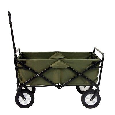 - Folding Utility Wagon Outdoor Collapsible Large Portable Sport Cart Wheels Green