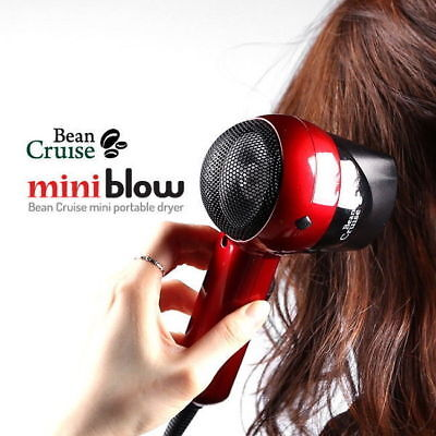 BeanCruise Hair Dryer Travelers Drying Tool Dual Voltage 1,000W Small Mini a_c