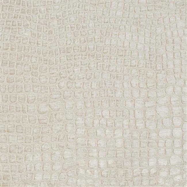 Designer Fabrics K0151B 54 in. Wide Cream Textured Alligator Shiny Woven Velv...