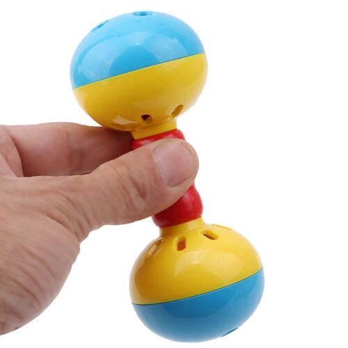 2x Dumbells Rattles Bells Shaking Baby Early Development Educational Toys LU