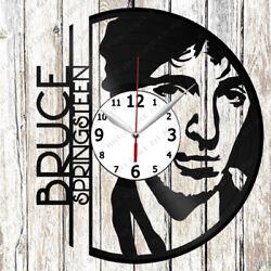 Bruce Springsteen Vinyl Wall Clock Made of Vinyl Record Original gift 2219