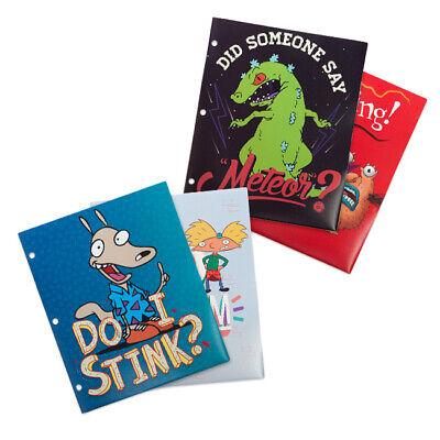 Nickelodeon Splat 2-Pocket Poly Folder 4pk  Arnold, Real Monsters, Reptar, Rocko](2 Pocket Folders Bulk)