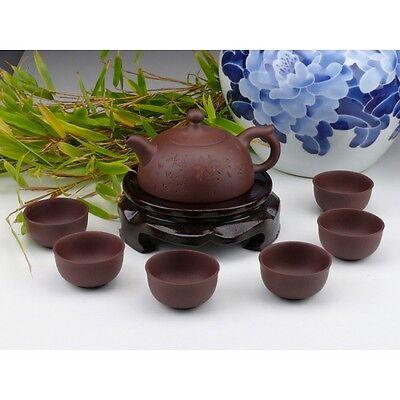 "Chinesisches Teeservice aus Yixing-Ton ""Teezeremonie"", Shi Piao Teekanne China"