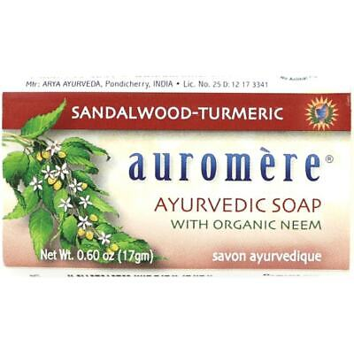 Auromere Ayurvedic Soap - Sandalwood-Tumeric 0.60 oz Bar(S)
