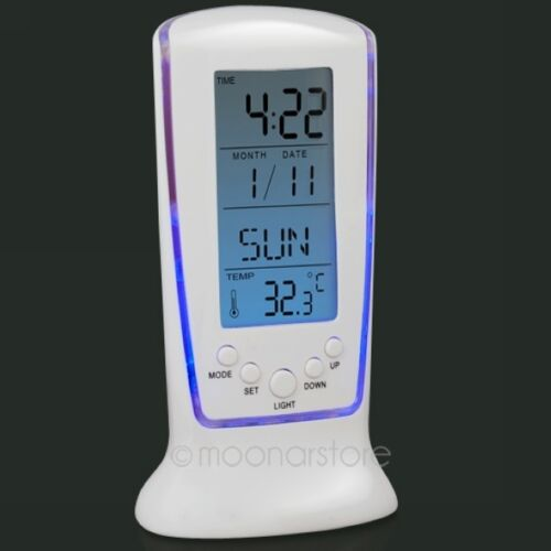 Blue Digital Backlight LED Display Table Alarm ...