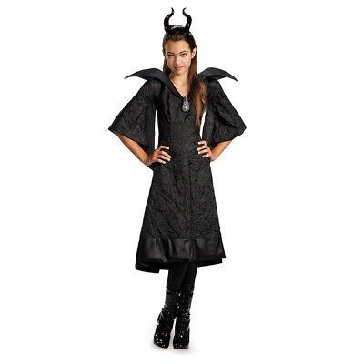 Disney Maleficent Taufe Schwarz Abendkleid Kinder Filmklassiker Kostüm Cosplay ()