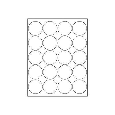 Laser Labels 2 Circle White 2000case