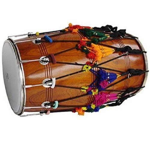 Sai Musical Natural Punjabi Bhangra DHOL + + FREE BAG + DAGGA & TILLI