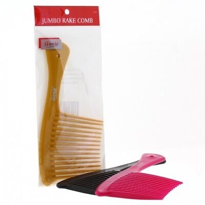 ANNIE JUMBO RAKE COMB #23 ASSORTED COLOR - Giant Comb
