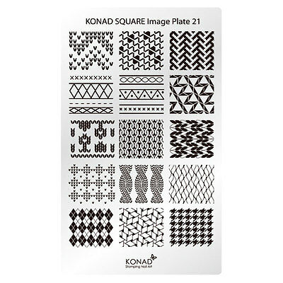 Konad Stamping Nail Art Square Image Plate 21 Knit for sale  Shipping to India