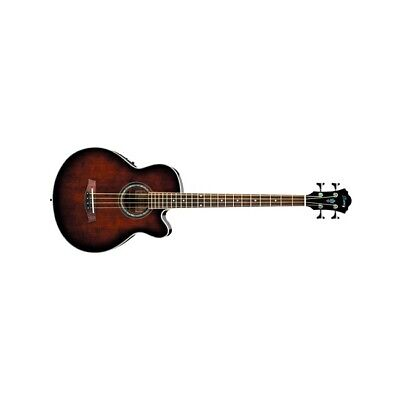 Ibanez AEB10E Dark Violin Sunburst DVS Acoustic-Electric Bass Guitar AEB