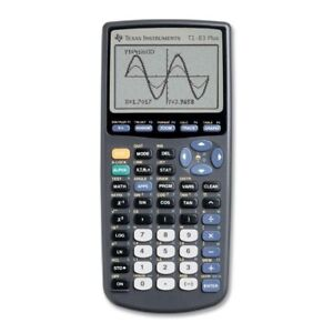 T I 83+ graphing calculator