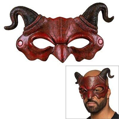 Halbmaske Roter Teufel aus Schaumstoff - Halloween Karneval Kostüm Zubehör #2254