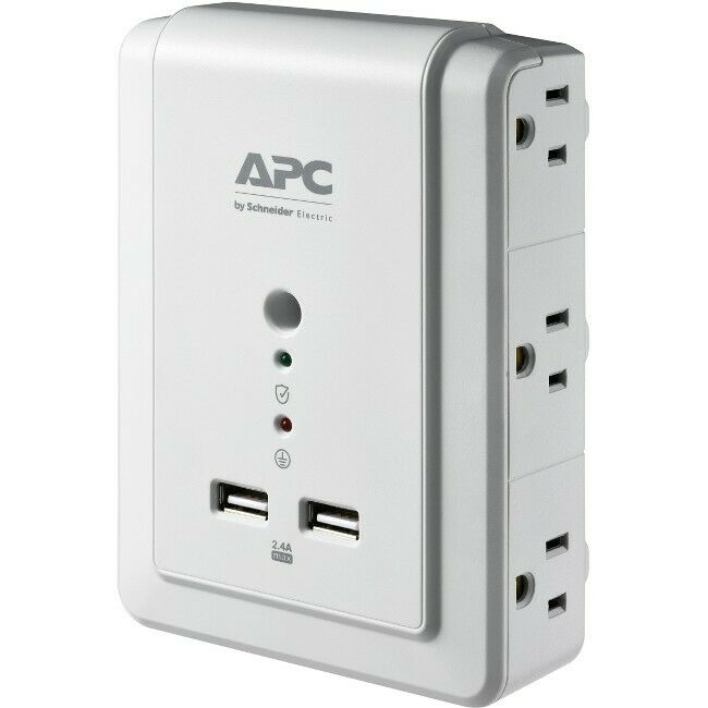 APC BY SCHNEIDER ELECTRIC P6WU2 APC ESSENTIAL SURGEARREST 6 OUTLET WALL MOUNT...