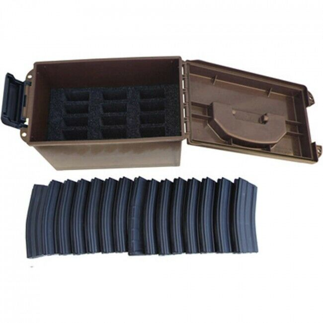 TACTICAL MAGAZINE CAN 15 - DARK EARTH- Magazines NOT INCLUDED