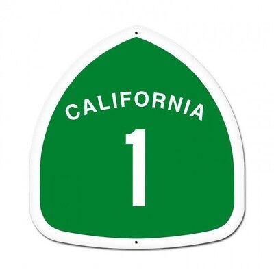 California Highway 1 Pacific Coast Tin Metal Street Sign  for sale  Dayton