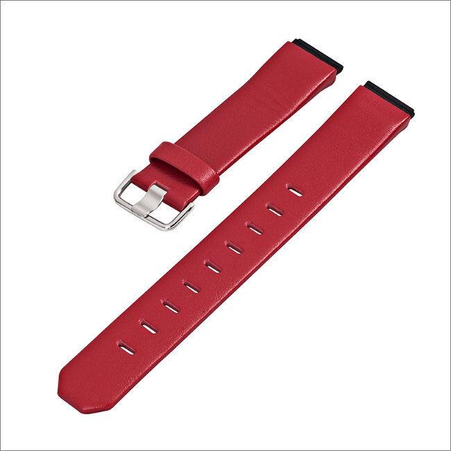 JACOB JENSEN Uhrband strap Uhrenarmband original Leder rot 19 mm Einschubband
