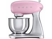 SMEG SMF01PKUK Retro Style Stand Mixer – Pink