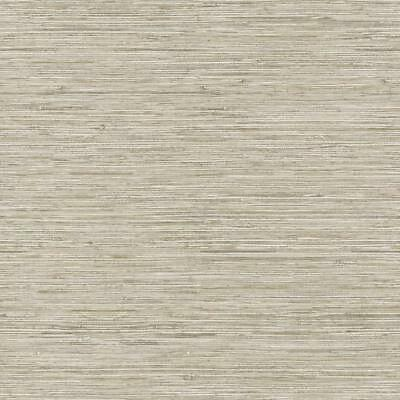 Wallpaper Cream Taupe Tan Gray FAUX Grasscloth Smooth Finish, Looks Real Up