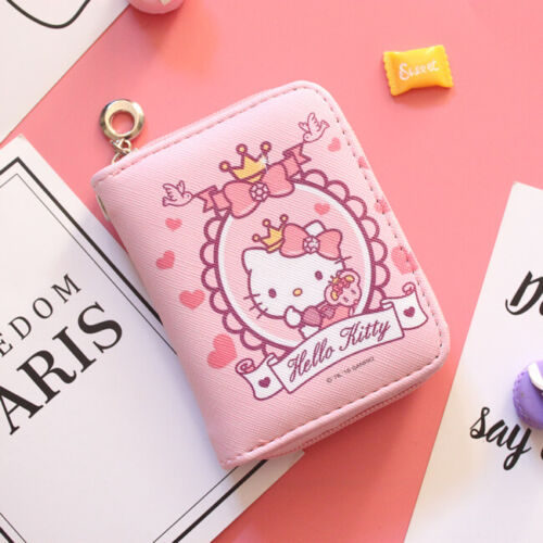 Hello kitty wallet purse pink lovely gift present cards hand bag Japan