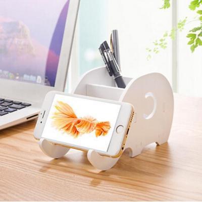 Cartoon Elephant Jewelry Pen Cell Phone Holder Box Accessories Storage Box LA