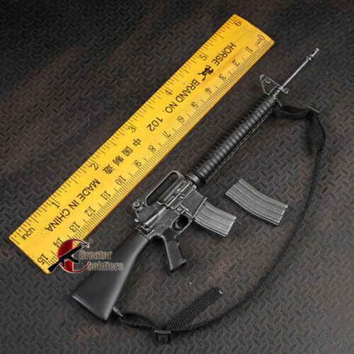 1:6 US Army M16 Black Weapon Model Toys Fit For 12/'/' Soldier Action Figures