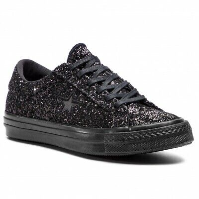 Converse One Star Ox Black 162617c Women Size 8 New