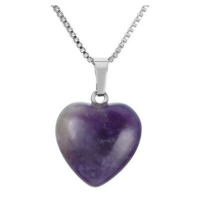 Natural Gemstone Amethyst Heart-Shaped Small Pendant For Necklace Jewelry
