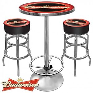Budweiser Table and Stools - Mancave Prince George British Columbia image 1
