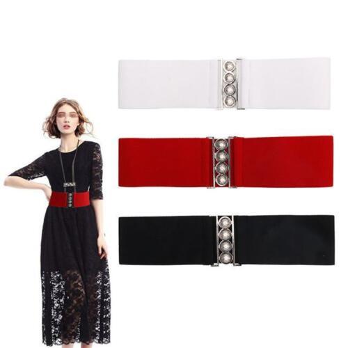 Fashion Womens Elastic Stretch Shinning Sequin Wide Corset Waist Belt Waistband