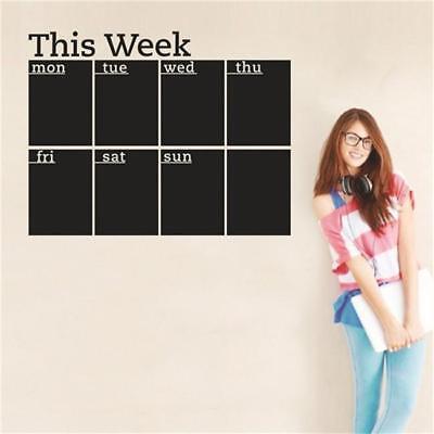 Month Week Planner Calendar Blackboard Chalkboard Wall Sticker DIY Decor Shan](Chalkboard Decor)