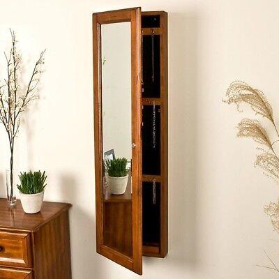 jewelry armoire storage full length mirror organizer