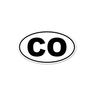 Colorado CO White State Oval car window bumper sticker decal 5