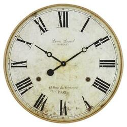 Aspire Home Accents 4783 Leniel Large Wall Clock Golden Brown